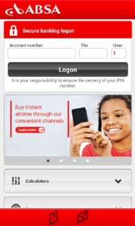 ABSA Personal loan calculator screenshot