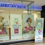 Window advertising cash loans at African Bank