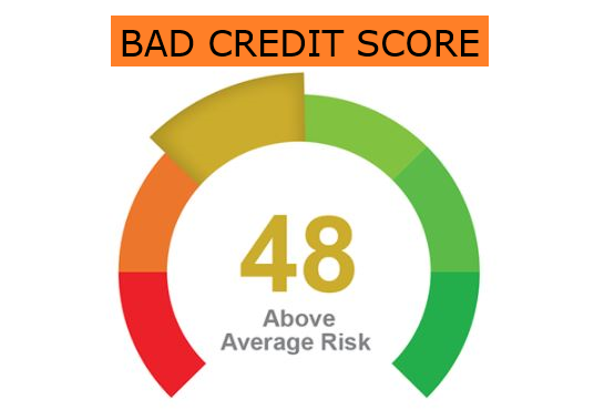 A bad credit score in South Africa