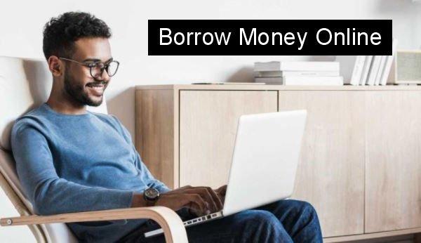 Man looking to borrow money online